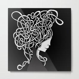 Iconia Girls - Ella Black Metal Print
