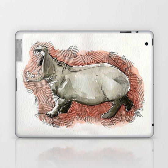 Watercolor Hippo Laptop & iPad Skin