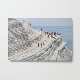Rocky cliff Scala dei Turchi, Sicily, Italy Metal Print
