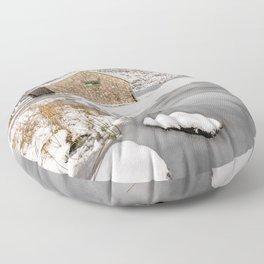 Frozen Lake Snowdonia Floor Pillow
