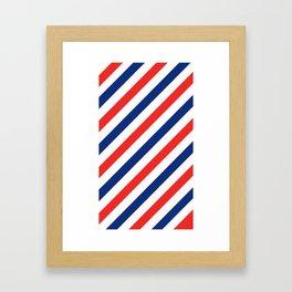 Barber Stripes Framed Art Print