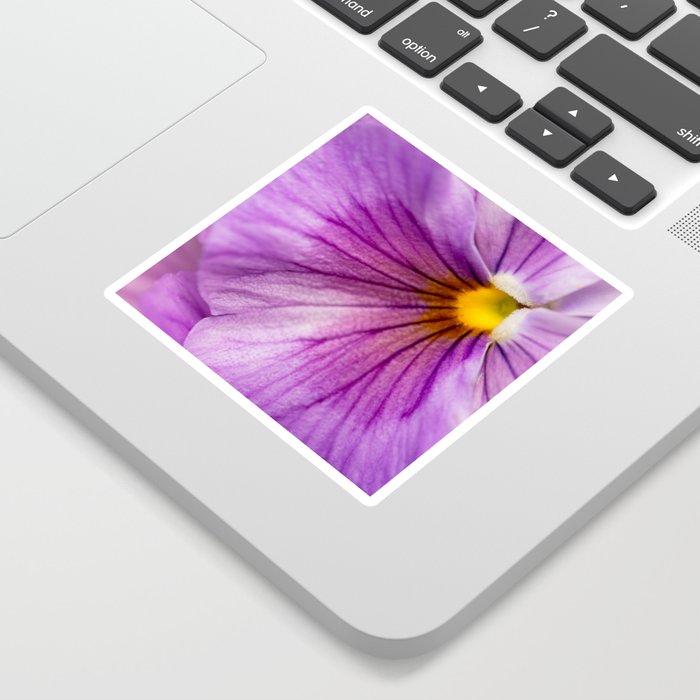 Purple Pansy Flower Close-up #decor #society6 #buyart Sticker