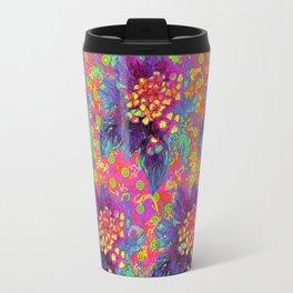 Acid pink flowers Travel Mug
