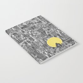 space city sun bw Notebook
