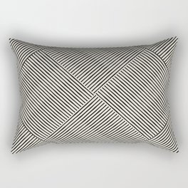 Criss Cross Stripes Rectangular Pillow