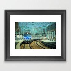 Gdansk wrzeszcz train station Framed Art Print