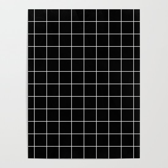 Grid Line Stripe Black and White Minimalist Geometric by beautifulhomes