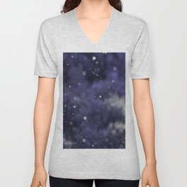 White Sparkly Holidaze Purple with SnowFlakes by CheyAnne Sexton Unisex V-Neck