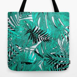 Tropical leaves background texture Tote Bag