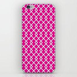 Hot Pink Diamond Pattern iPhone Skin