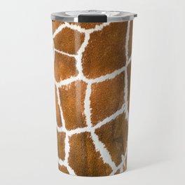 Giraffe skin close up illustration Travel Mug