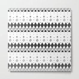 Geometric Screen Print Metal Print