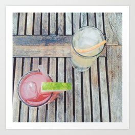 Summer Drinks Art Print