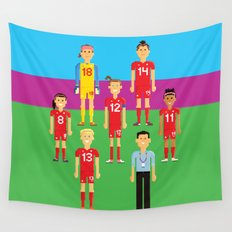 Pixel Players Canada Wall Tapestry