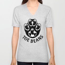 Toe Beans - Black Beans Unisex V-Neck