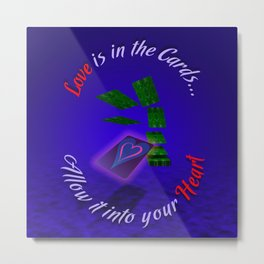 Love Is In The Cards Metal Print