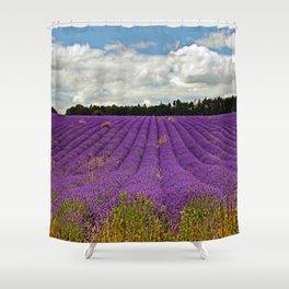 Lavender Landscape Shower Curtain
