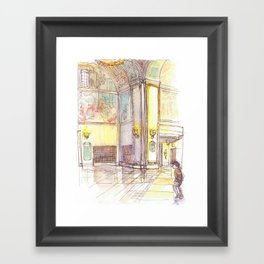 Golden Rotunda Framed Art Print