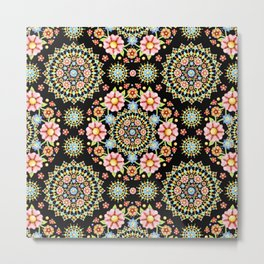 Flower Crown Fiesta Metal Print