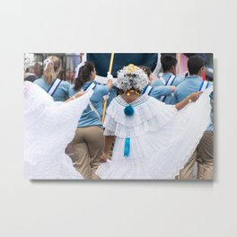 Dancer at Panama City Parade in Panama Metal Print