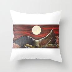 Gaia and Luna Grande Throw Pillow