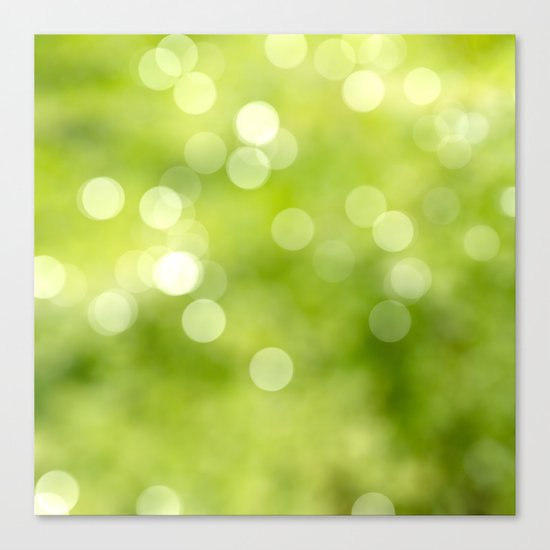green bokeh Canvas Print