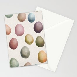Pastel eggs pattern Stationery Cards