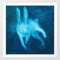 Ghost Bunny III Art Print