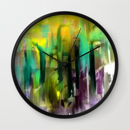 Colorful City Wall Clock