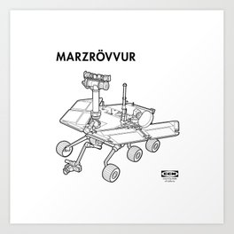 MARZRÖVVUR Art Print