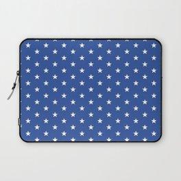 Superstars White on Blue Small Laptop Sleeve