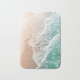 Soft Emerald Beige Ocean Dream Waves #1 #water #decor #art #society6 Bath Mat