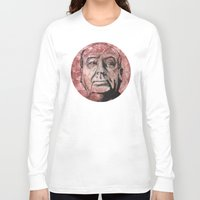 hitchcock Long Sleeve T-shirts featuring Hitchcock by Colunga-Art