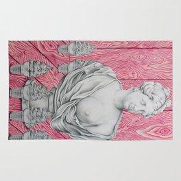 Venus and the Woodgrains Rug
