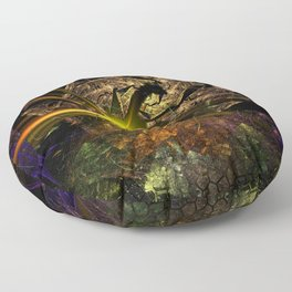 Machu Picchu 3D Fractal Floor Pillow