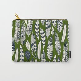 joyful feathers green Carry-All Pouch