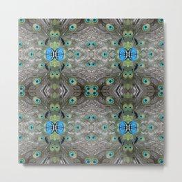 Peacock Pattern, Cushion, Xmas gift, christmas gift Metal Print