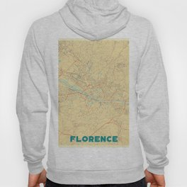 Florence Map Retro Hoody