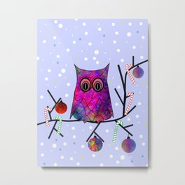 The Festive Owl Metal Print