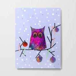 The Festive Owl Metal Print