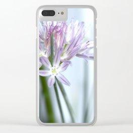 Flower | Flowers | Purple Chive | Kitchen Garden | Nadia Bonello Clear iPhone Case