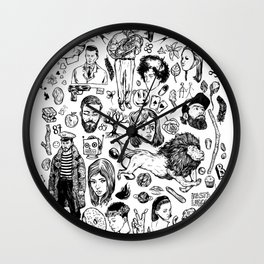 Things 2 - black and white Wall Clock