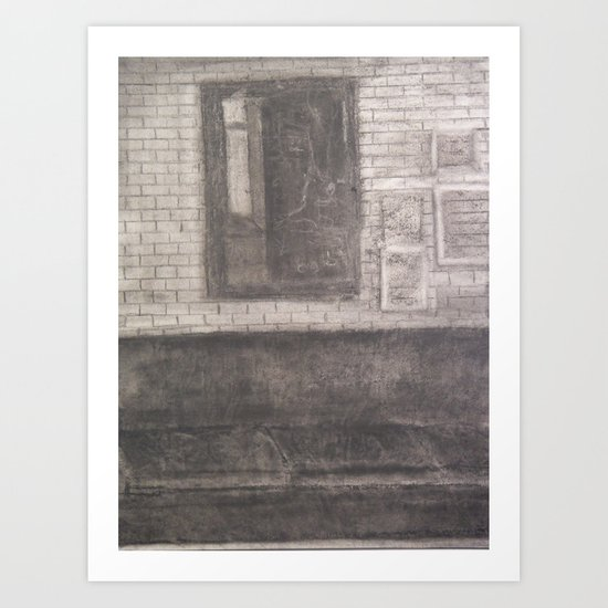 Mirror, Mirror Above The Couch... Art Print