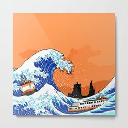 Big wave Lisbon Metal Print
