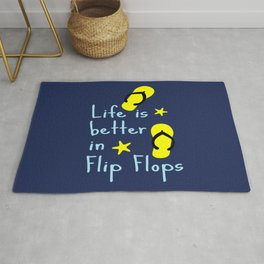Life is better in Flip Flops Rug