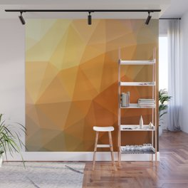 Shades Of Orange Triangle Abstract Wall Mural