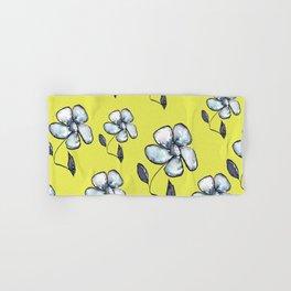 Modern Floral - Yellow Background Hand & Bath Towel