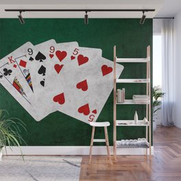 Poker Hand Two Pair King Nine Five Wall Mural