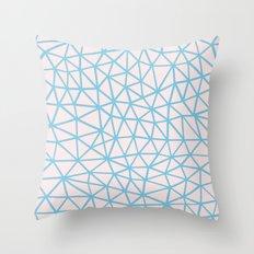 Seg Blue Pink Throw Pillow