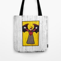 dungeons and dragons Tote Bags featuring DUNGEONS & DRAGONS - AVENGER by Zorio